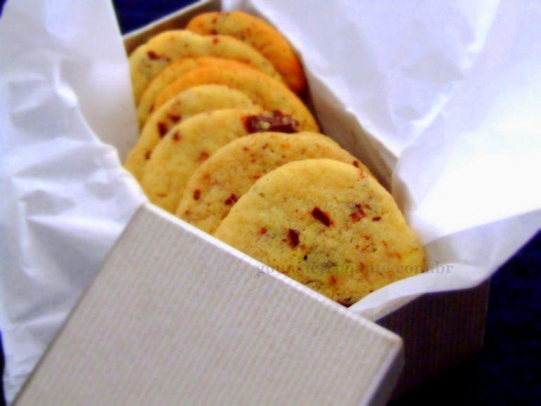 Cookies de Baunilha com chocolate