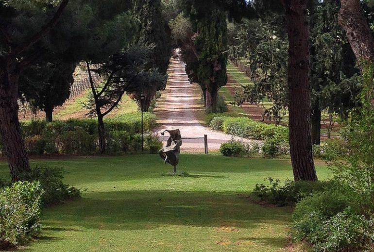 A alameda que dá acesso ao L'Andana