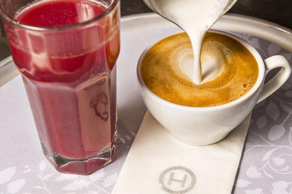 Vegetariano Hiltl espresso