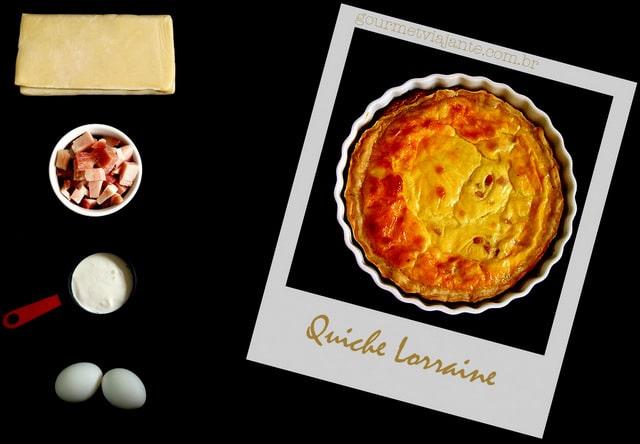 Quiche Lorraine com 4 ingredientes