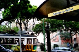 Bonde em Lisboa, capital portuguesa