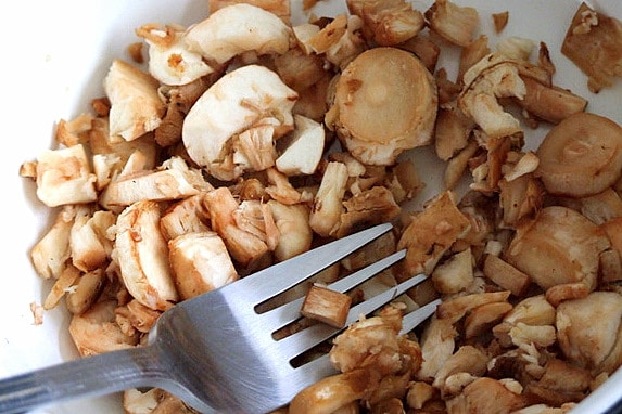 Cogumelos recheados