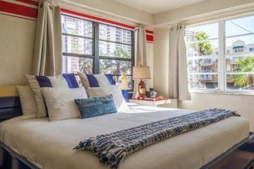 Suíte do Freehand Miami, considerado o melhor hostel da cidade / Foto: divulgação