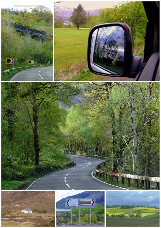 De carro nas Highlands, Escócia