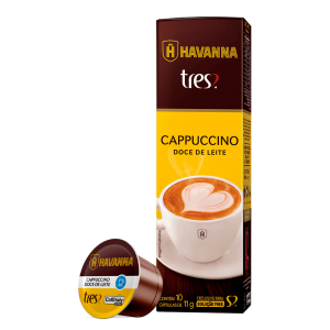 TRES: nova cápsula de cappuccino com doce de leite Havanna