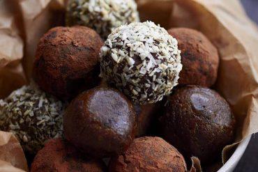 Receita saudável de trufas de chocolate amargo