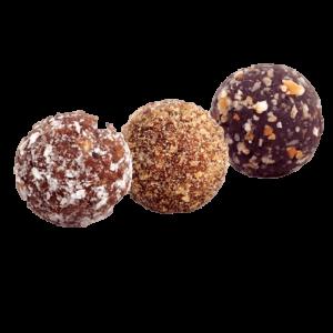 Receita de trufas saudáveis de chocolate amargo