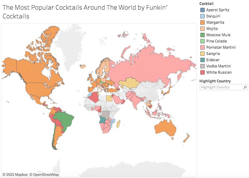 O coquetel mais popular do mundo em 2021
