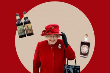 Rainha Elizabeth Cerveja e Gin
