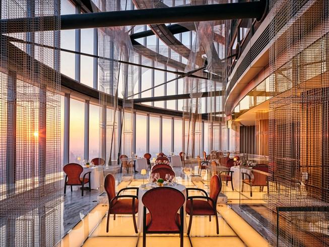 A adega do Centouno no hotel mais alto do mundo